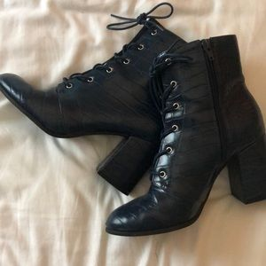 """""""Leather"""" Boots"""